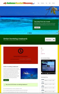 Andaman Snorkel Discovery's New Website