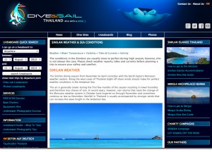 Similan Weather and Sea Conditions on Thailand Dive and Sail