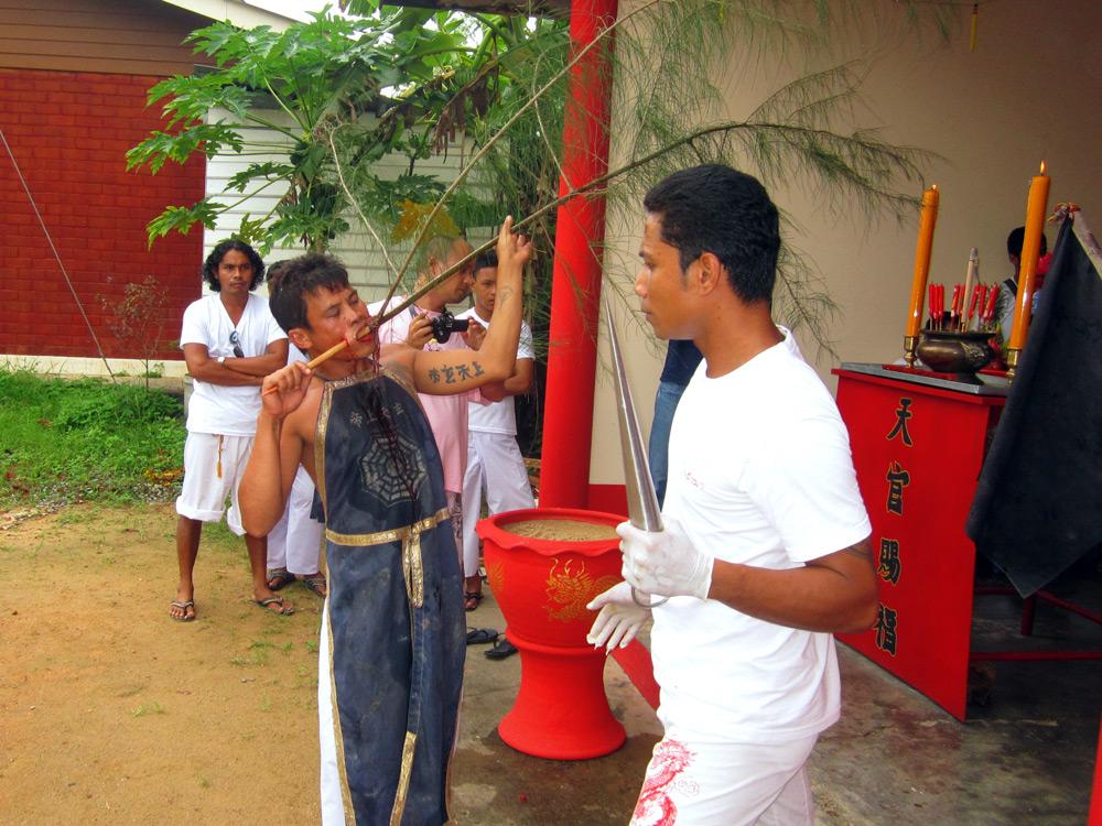 Mah Song prepares for his housecalls, Khao Lak, Thailand