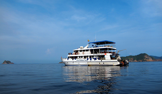 A Burma liveaboard boat, one option for diving in Burma