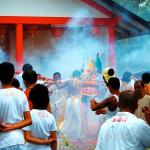 Vegetarian Festival Smoke in Khao Lak, Thailand