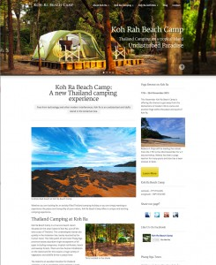 New Koh Ra Beach Camp Website