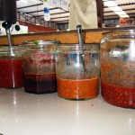 the secret chilli sauces at Chonticha 2 in Khao Lak
