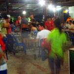 A blur of activity at Chonticha 2 Khao Lak Restaurant