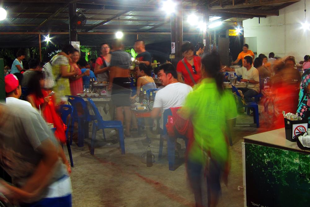 A blur of activity at Chonticha 2 Khao Lak Restaurant