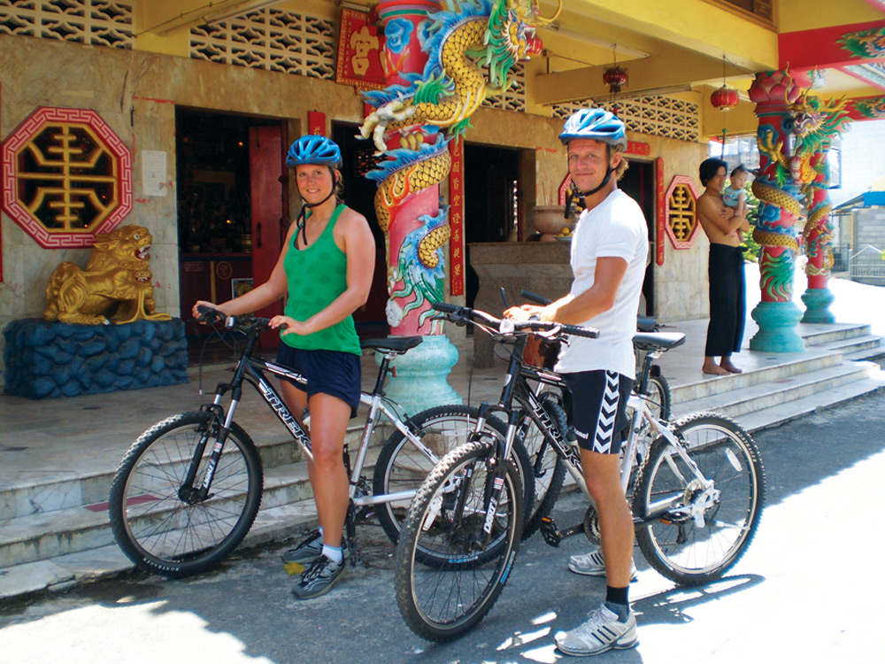 Cultural highlights on the mountain bike tour, Thai Muang Thailand