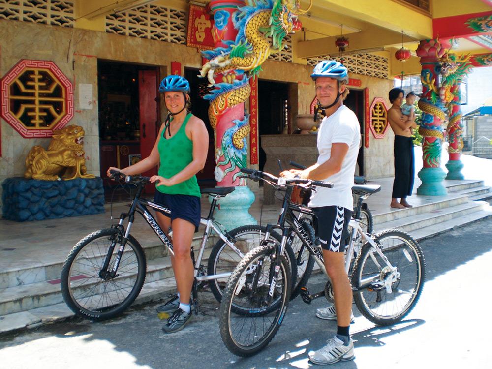 Cultural highlights on the mountain bike tour, Thai Muang Thailand