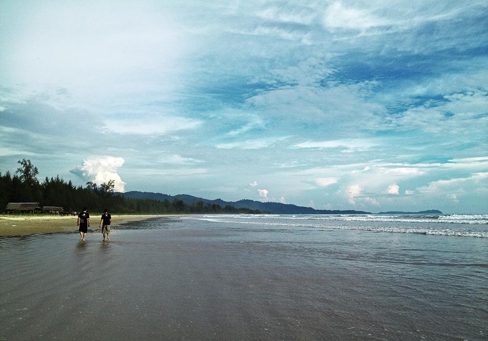 Afternoon skies at Pakarang Cape near Khao Lak