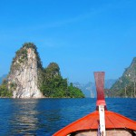 Long tail boat at Khao Sok Lake Thailand