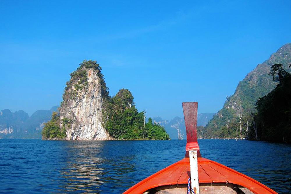 Long tail boat at Khao Sok Lake Thailand