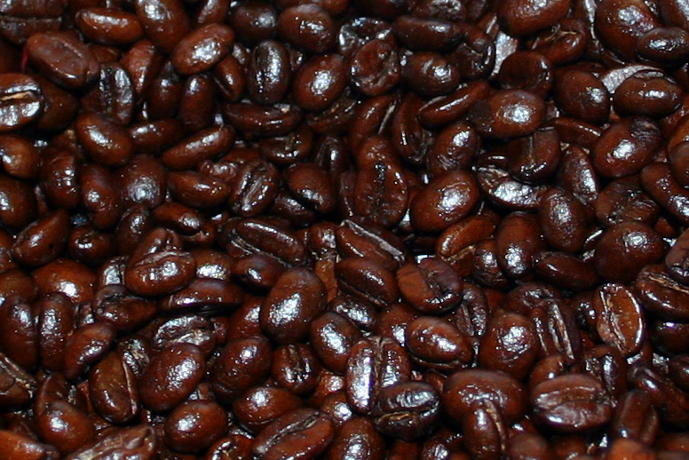 Close up of coffee beans from Cafe Aon