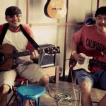 Jamming guitars at GBS Music Shop Khao Lak Thailand