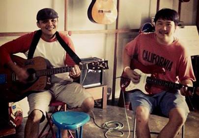 Jamming guitars at GBS Music Shop Khao Lak Thailand