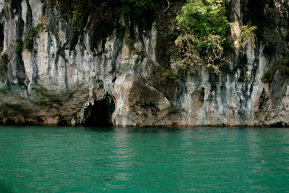 Entrance to Red Cave dive site Khao Sok Thailand