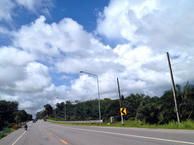 Blue skies and fluffy clouds Khao Lak Weather