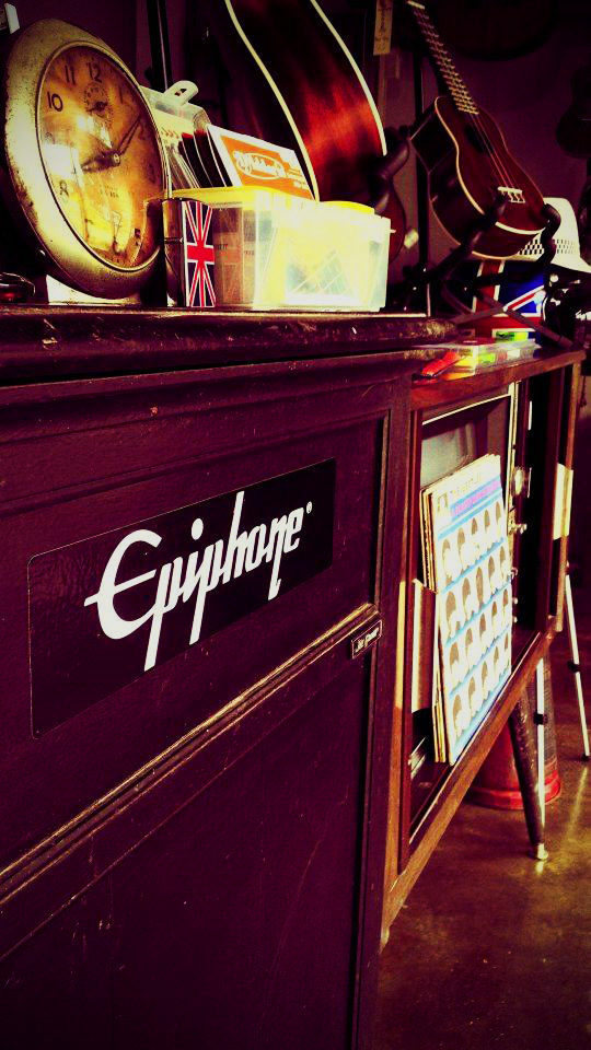 old music equipment in Khao Lak Thailand