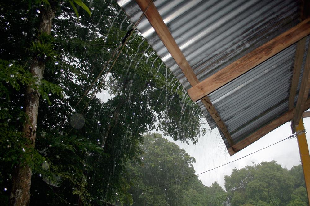 Heavy rainfall near Takua Pa, Thailand