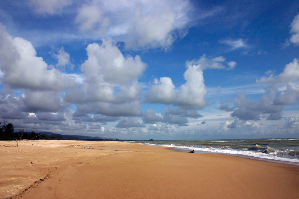Fluffy clouds over Nam Kem Beach, Thailand