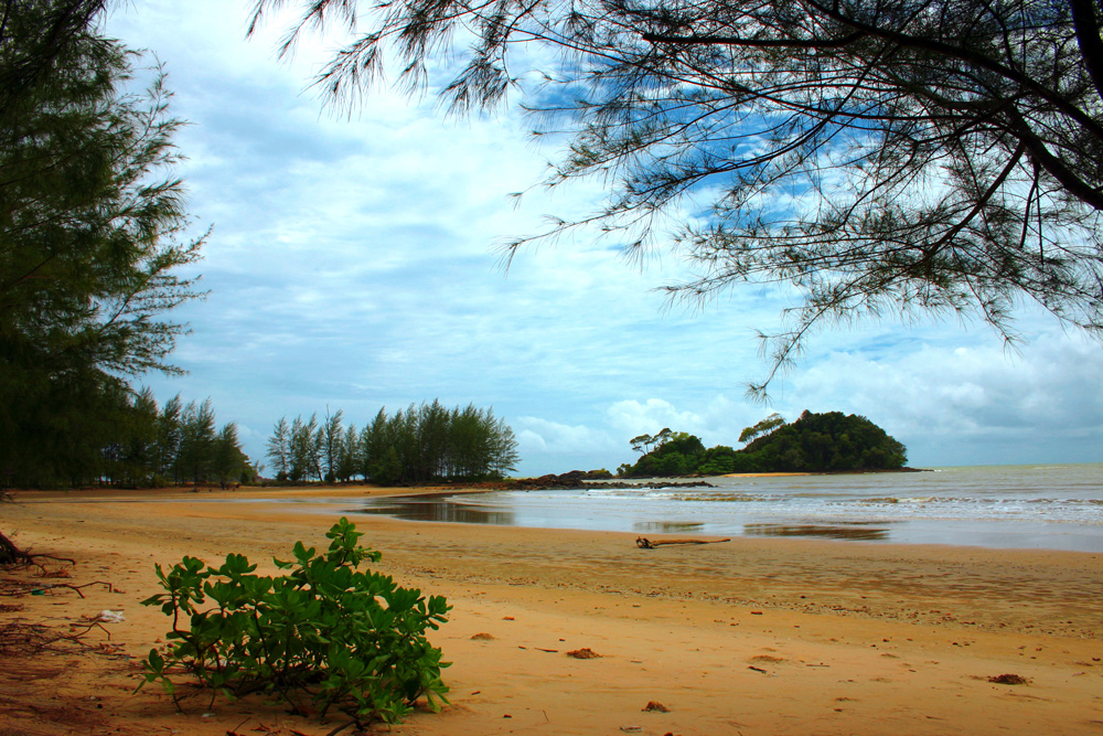 Beach during the rainy season