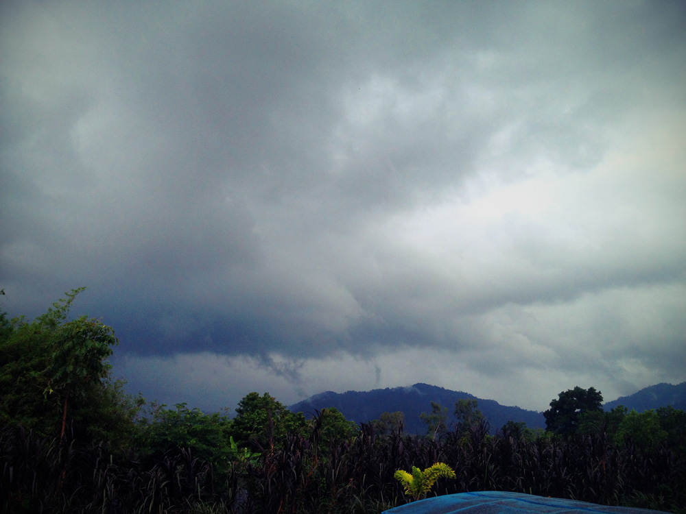 Rain clouds over Khao Lak
