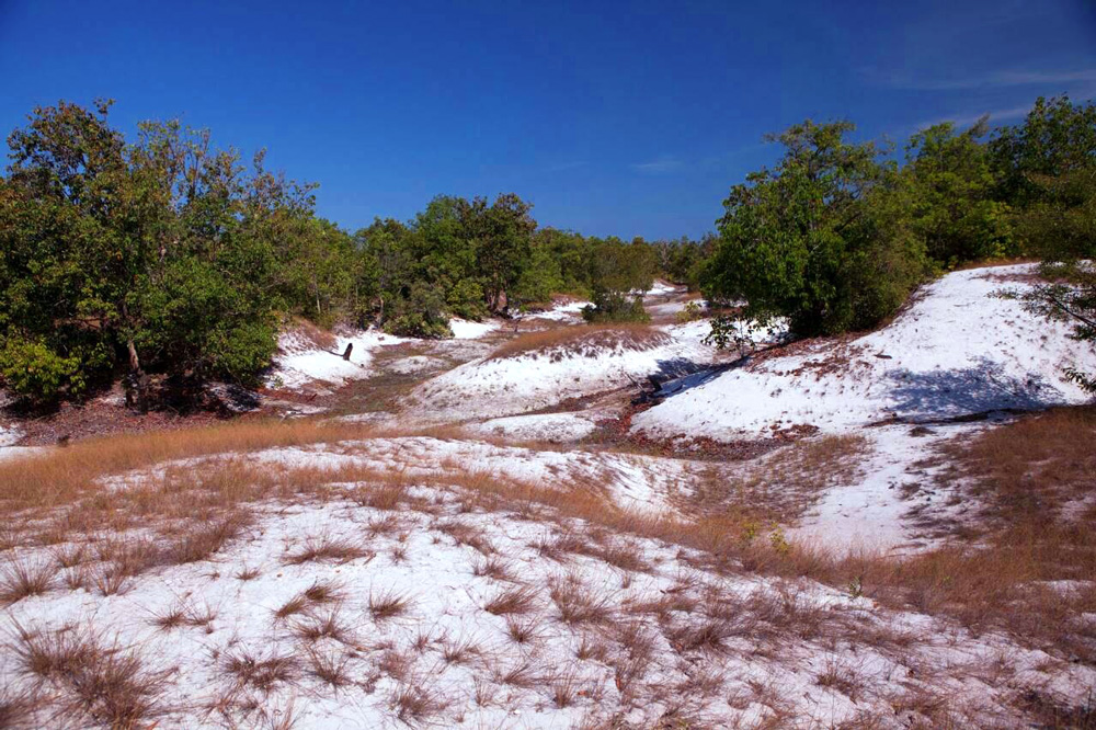 Small sand dunes on Koh Prathong