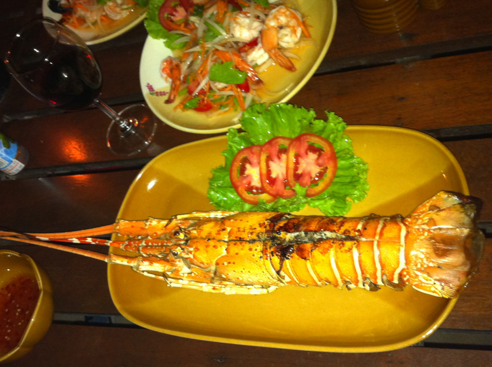 Fresh lobster available in Khao Lak