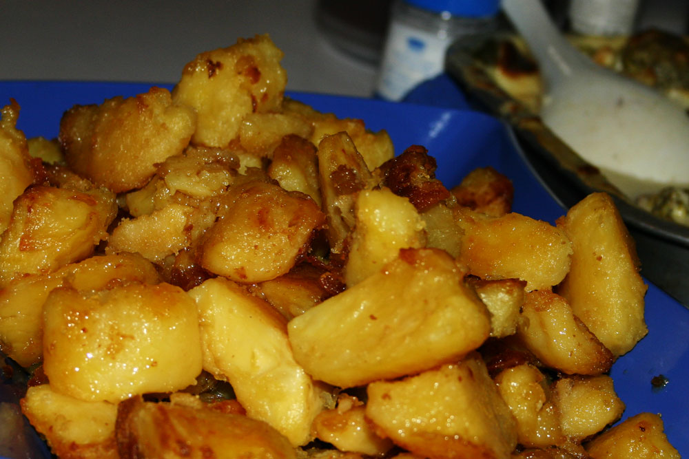 roast potatoes as part of tradition Sunday dinner