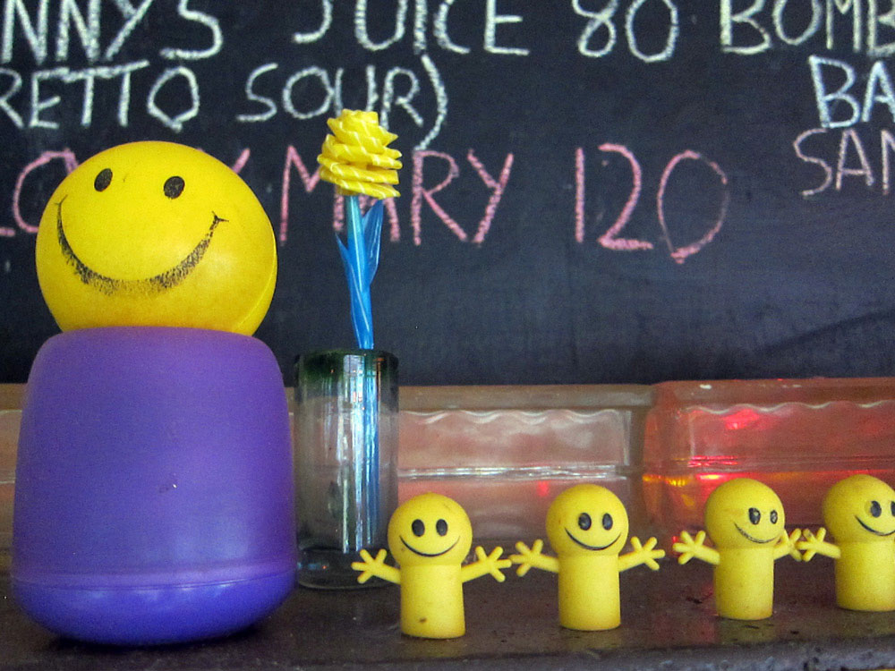 smiley decorations at Mars Bar and Café
