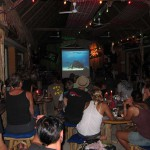 Crowds gather at Sparrow Bar to learn about Mantas and Sharks