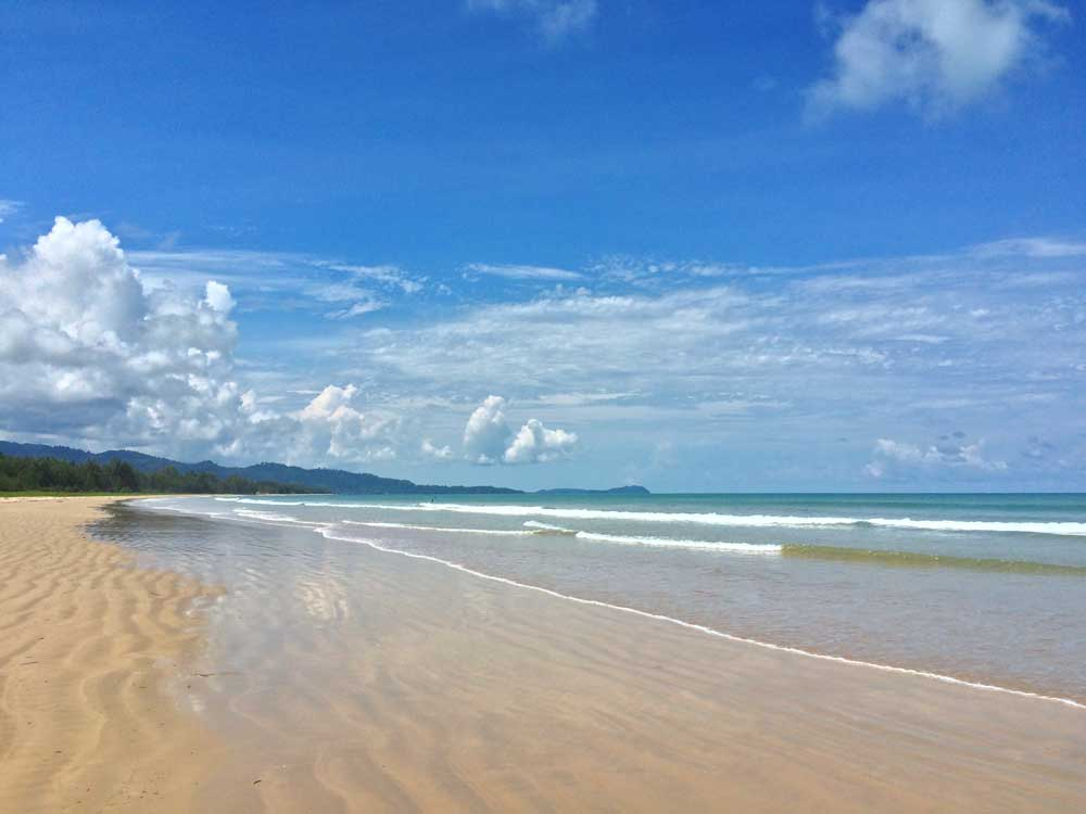 the beach at Pakarang near Khao Lak
