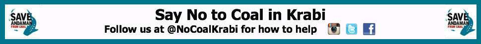 No Coal Krabi banner advertising